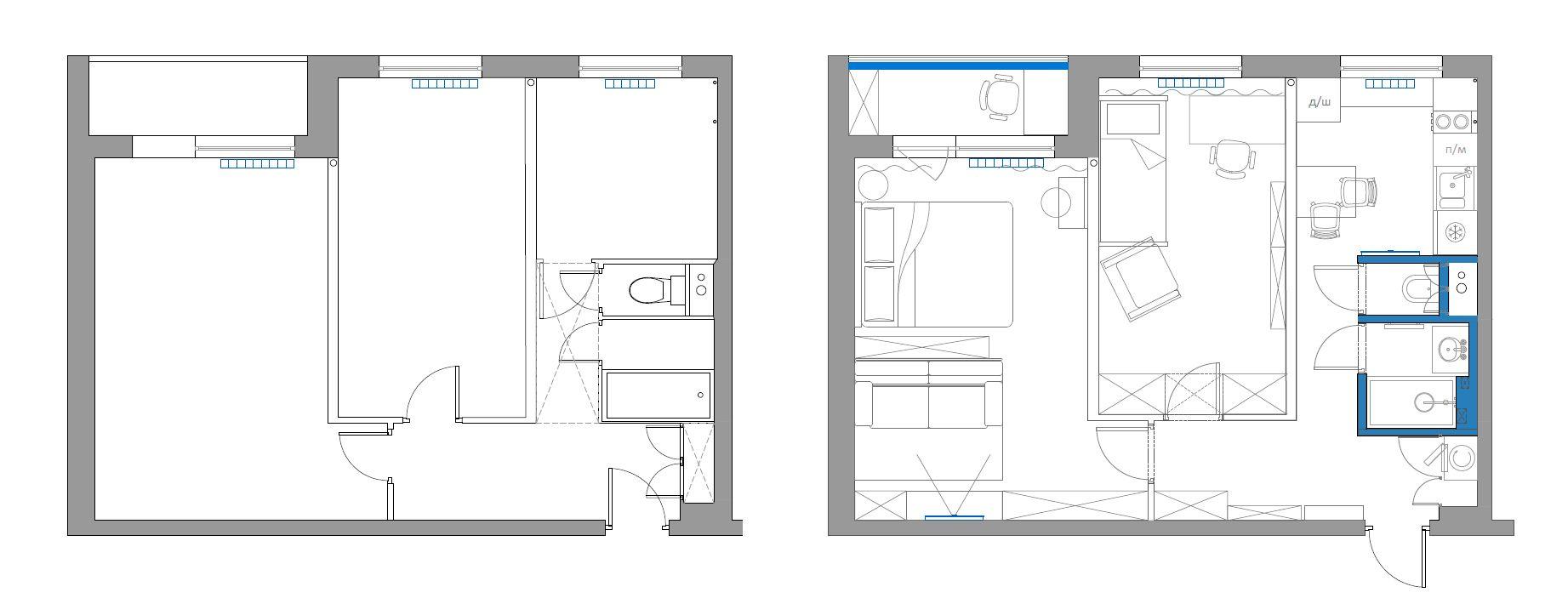 Обмеры и план квартиры на Ботаническом саду